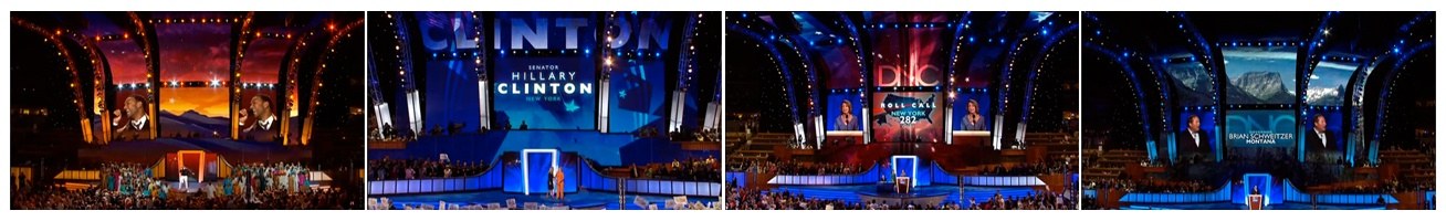 In 2008 we had the pleasure of designing screens for the Democratic National Convention