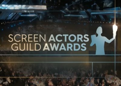 26th Screen Actors Guild Awards broadcast graphics package as well as the screens graphics package